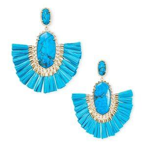 "Kendra Scott ""Cristina Gold"" Statement Earrings"